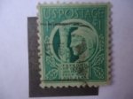 Stamps : America : United_States :  U.S. Postage - Liberty holding the torch of liberty (Libertad sosteniendo la Antorcha).