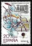 Stamps Spain -  Campeonato del mundo de ciclo-cross