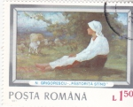 Stamps Romania -  PINTURA- JOVEN PASTORA