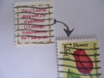 """Stamps : America : United_States :  EE.UU - This U.S. Stamp along wath 25cnts. of aditioinal U.S. postage, is equivalent to the """"F"""" Stam"""
