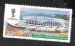 Sellos del Mundo : Europa : Rusia :  Mundial de fútbol Rusia 2018, Estadio Nizhni-Novgorod