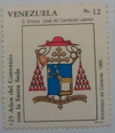 Stamps : America : Venezuela :  25 AÑOS DEL CONVENIO CON LA SANTA SEDE