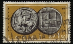 Stamps : America : Greece :  Moneda