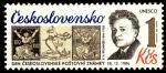 Stamps Czechoslovakia -  Día del Sello, V. H. Brunner (1886-1928), diseñador de sellos