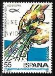Sellos de Europa - Estonia -  Exposición Mundial de la pesca - (Vigo 91)