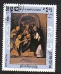Stamps Cambodia -  Pintura de Antonio Allegri Correggio