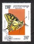 Sellos de Asia - Camboya -  Mariposas