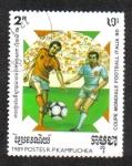 Stamps : Asia : Cambodia :  Copa Mundial de la FIFA 1990 - Italia