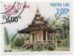 Stamps : Asia : Laos :  Templos, Ho Tay