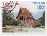 Stamps : Asia : Laos :  Templos,  Dong Mieng