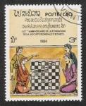 Stamps : Asia : Laos :  60º aniversario de la Federación Mundial de Ajedrez