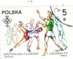 Sellos del Mundo : Europa : Polonia :  OLIMPIADA DE LOS ANGELES-84