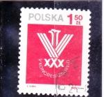 Sellos de Europa - Polonia -  ESCUDO-CONGRESO