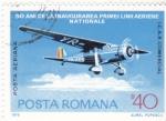 Sellos de Europa - Rumania -  BIMOTOR-50 ANIV.LINEA AEREA NACIONAL