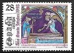 Stamps Spain -  Año Santo Jacobeo - Descubrimiento de la tumba de Santiago