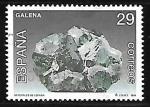Stamps : Europe : Spain :  Minerales de España - Galena