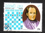 Stamps : Asia : Laos :  Ajedrez