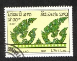 Sellos de Asia - Laos -  Arte, Hojas