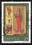 Sellos de Europa - España -  Museo de naipes - Sota de bastos