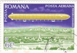 Stamps of the world : Romania :  DIRIGIBLE
