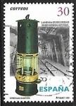 Stamps Spain -  Minerales de España - Lámpara minera de seguridad