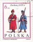 Sellos de Europa - Polonia -  SOLDADOS DE INFANTERIA S. XVII