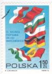 Stamps : Europe : Poland :  BANDERAS