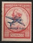 Stamps : Europe : Monaco :  Príncipe Luis II. Sobrecarga Invertida