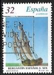 de America - Estados Unidos -  Barcos e Época - Bergantín del siglo XIX