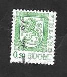 Sellos del Mundo : Europa : Finlandia : 749 - Escudo de armas nacional