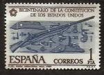 Stamps Spain -  Bicnt.Constitucion EE.UU