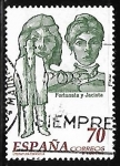 Sellos del Mundo : Europa : España : Literatura Española. Personajes de Ficcion