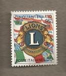 Sellos del Mundo : Europa : Italia :  50 Aniversario Club Leones
