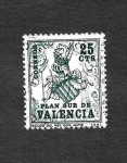 Stamps Spain -  Edf 1 (Valencia) - Escudo del Rey don Jaime I