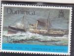 Stamps : America : Dominica :  NAVES LIGADAS A LA HISTORIA DE DOMINICA