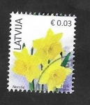 Stamps : Europe : Latvia :  945 - Flor narciso