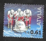 Stamps : Europe : Latvia :  Deporte de invierno