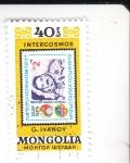 Stamps Mongolia -  INTERCOSMOS-SELLO SOBRE SELLO