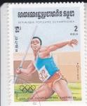 Sellos de Asia - Camboya -  JUEGOS OLIMPICOS LOS ANGELES'84