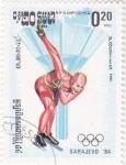 Stamps Cambodia -  OLIMPIADA SARAJEVO'84