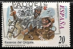 Stamps of the world : Spain :  Escenas del Quijote -
