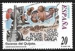 de America - Estados Unidos -  Escenas del Quijote - Viole bajar y subir con tanta gracia