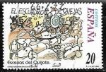 de Europa - España -  Escenas del Quijote - El escuadrón de ovejas