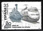 Stamps : Europe : Spain :  150º Años del ferrocarril en España