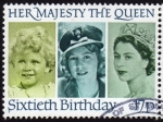 Stamps United Kingdom -  COL-SIXTIETH BIRTHDAY (QUEEN ELISABETH II)