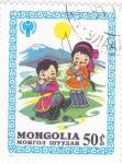 Sellos del Mundo : Asia : Mongolia : ILUSTRACIÓN NIÑOS