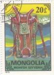 Sellos de Asia - Mongolia -  SILLA DE MONTAR