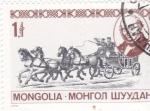 Sellos de Asia - Mongolia -  DILIGENCIA  POSTAL
