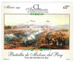 Stamps of the world : Mexico :  CL Aniversario en Defensa de la Patria Batalla de Molino del Rey