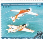 Stamps Asia - Mongolia -  AVIONES DE ACROBACIA